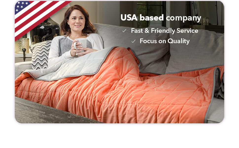usa service quality premium luxury weighted blanket anxiety gravity cooling weight 8 12 15 18 20 lb