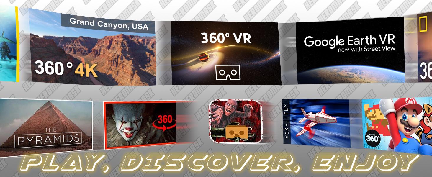 play, enjoy, discover, games, virtual, reality, zombie, jet, plane, mario, pyramid, adventure