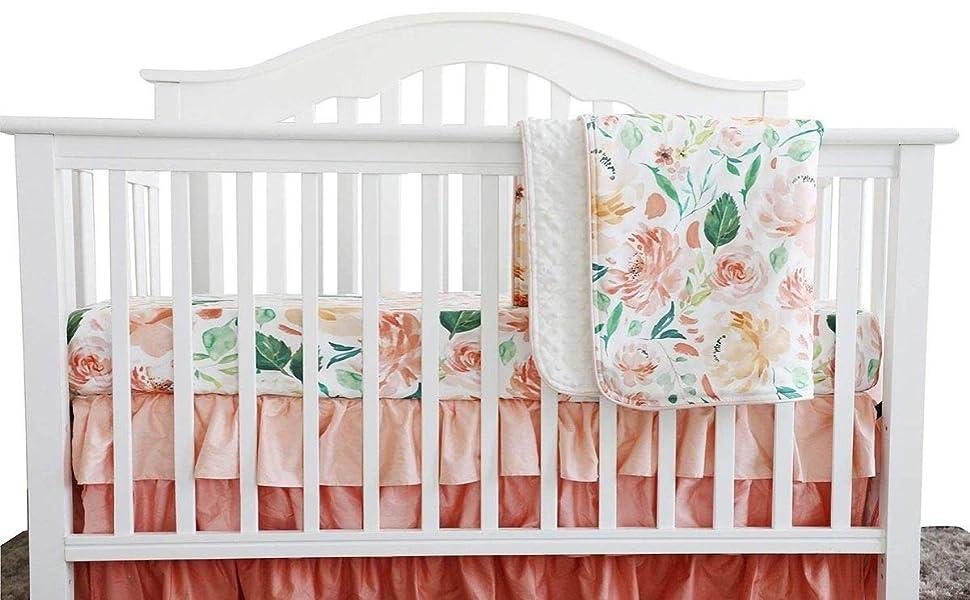 Sahaler 3 Pieces of Secret Garden Crib Bedding Set
