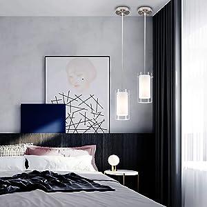 bedroom glass lighting
