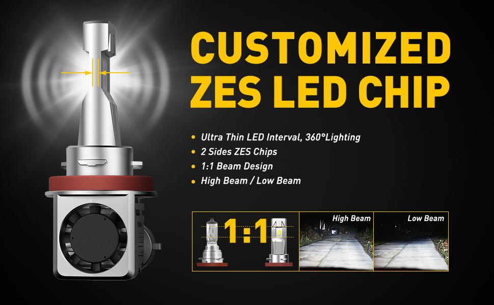auxito h11 led headlight bulbs