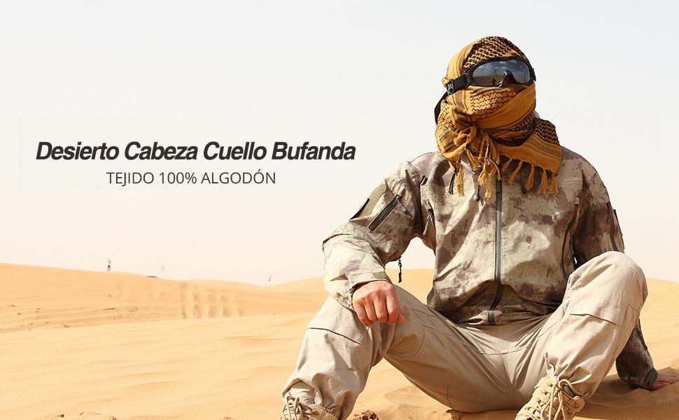 Chalier Bufanda Militar Tactica Desierto Invierno y Verano 100/% Algod/ón para Hombre y Mujer