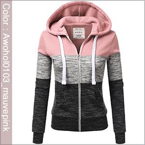 mauvepink womens hoodie zip up lightweight