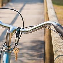 Gancio porta chiavi per bici, gancio passeggino porta borse