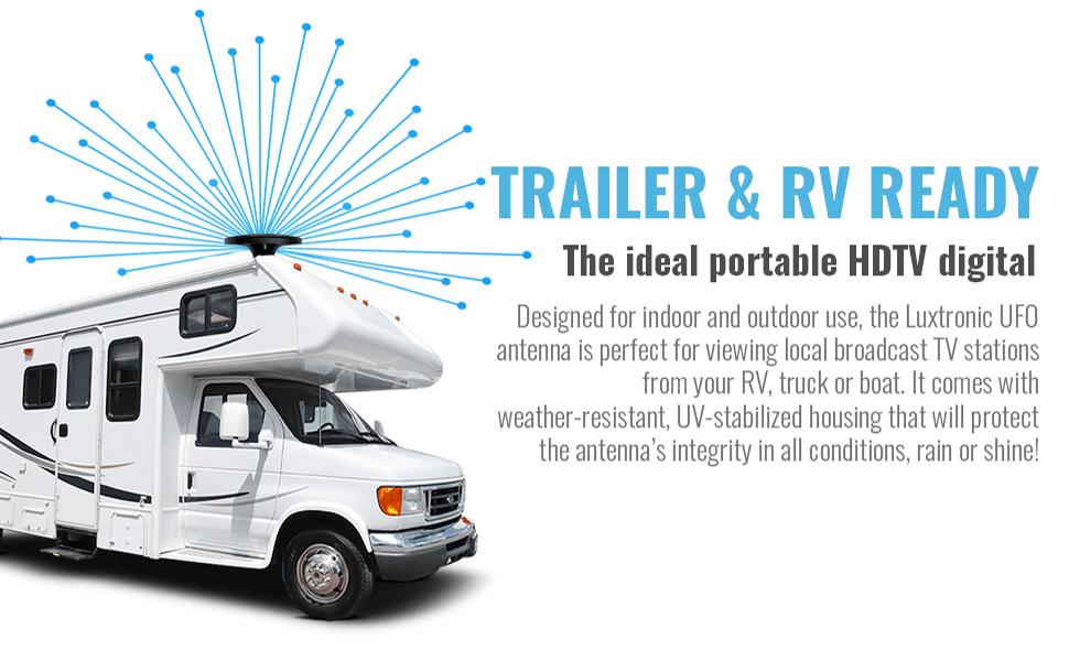 RV Digital TV Antenna HDTV Mount Long Range With Signal Finder Motorhome Camping