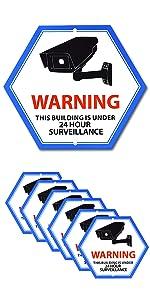 24 Hour Video Surveillance Sign, Security Camera Sign, Aluminum Warning Sign