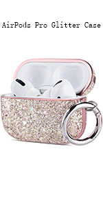 Airpod Pro case glitter case for girls women mother's day gift stylish fashion airpod pro cover