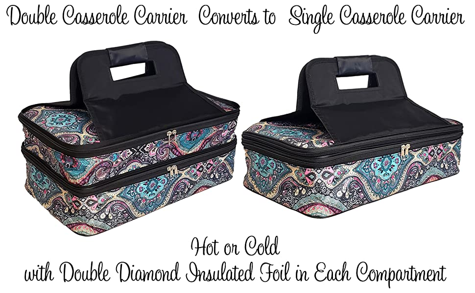 Canvas Solid Insulated Casserole Carrier WITH FREE MONOGRAM