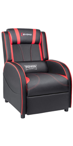 gaming recliner red