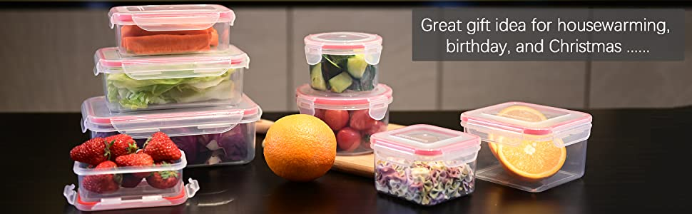 Fresh Friend Food Storage Containers with Lids