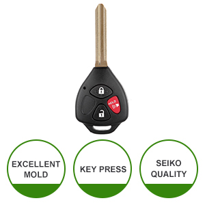 SCITOO Keyless Shell 1PC New Replacement Key Keyless Remote fit Toyota Shell Case Car Fob Uncut Blade fit 2010 2011 2014 2015 Toyota 4Runner RAV4 Yaris