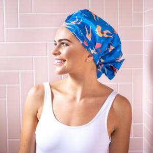 shower cap, shower cap for women, or hair cap, luxury, cute,  eco, shower caps, reusable, mermaid