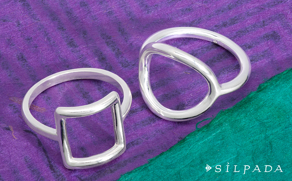 Silpada 'Karma' Sterling Silver Ring
