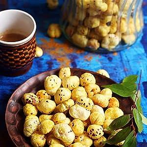 makhana with tea