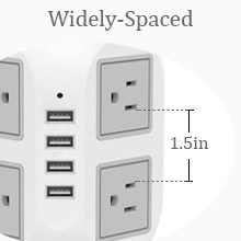 power strip with usb tower