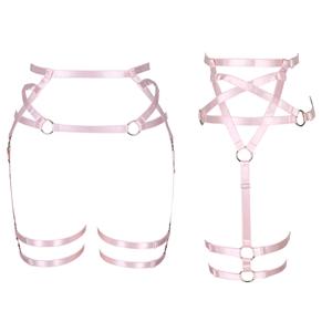 Harness Garter Belt+Pink