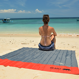 BEARZ Outdoor Blanket at a Beach (red)