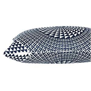 navy lumbar pillow cover