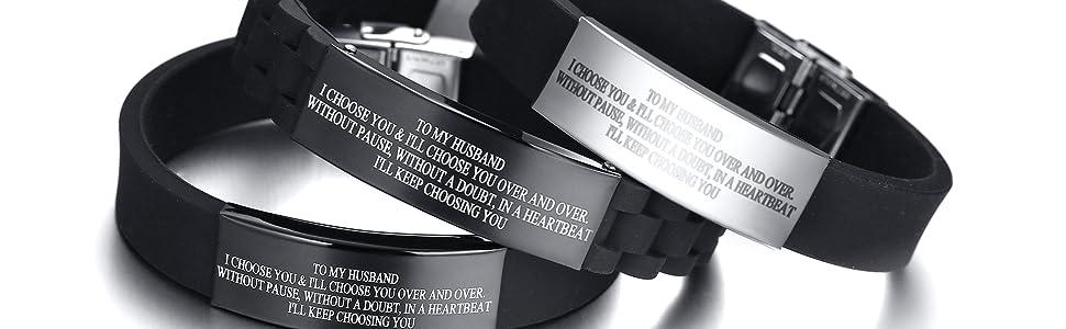 to my husband bracelet