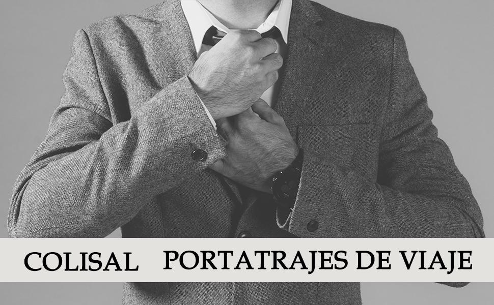 Colisal Portatrajes Hombre 60L Bolsa Viaje Plegable, Bolsa Traje ...