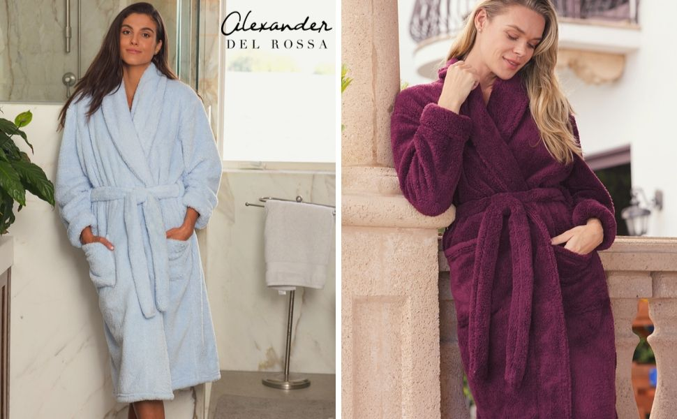 womens long haired robe