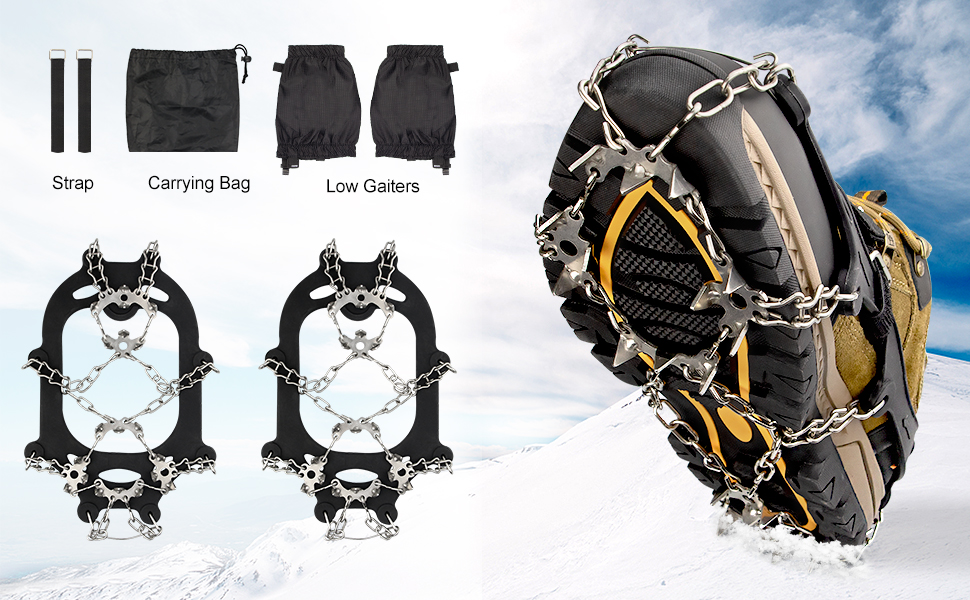 Traction Cleats Ice Cleats Ice Snow Grips Crampons