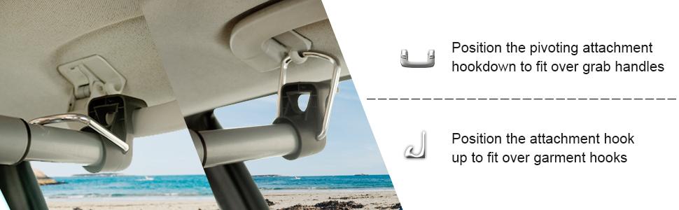 car clothes hanger rod