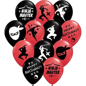 ninja birthday party balloons ninja party supplies
