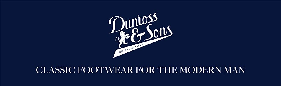 Dunross & Sons exclusive brand on Amazon of men's premium leather shoes and boots