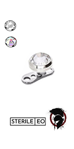 WARRIOR PIERCING STERILE BARBELL dermal anchor