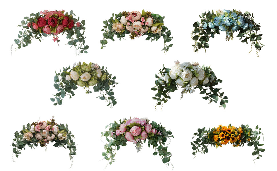 COLORFUL FLORAL SWAGS