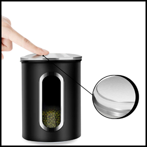 Canister set with glass window