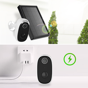 Wireless Rechargeable Battery Security 1080P CCTV Home Surveillance Camera 2-Way Audio Night Vision