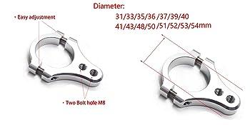 31mm Universal Fork Brackets Steering Damper Fork Mounting Clamp Bracket diameter 31mm,damper brackets damper hardware parts Stabilizer Brackets for Motorcycle Bike Modification