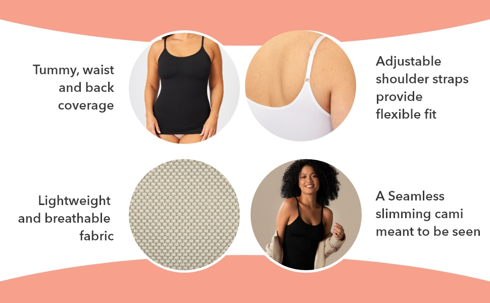 Shapermint Scoop Neck Compression Cami - Tummy and Waist Control Body  Shapewear Camisole at Amazon Women's Clothing store