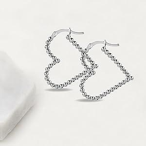 Sterling Silver Hoop Earring 35MM 30MM