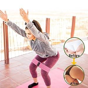 Set de bandas de resistencia,5 Bandas Elasticas Musculacion y 3 cintas gomas elasticas fitness, Adecuado para fitness yoga fisioterapia ...