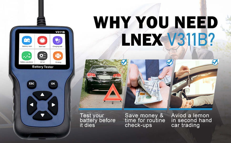 Why you need V311B Car Battery Tester?