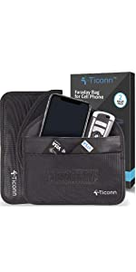 ticonn cell phone faraday bag