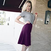 Stretch is comfort A line skirt