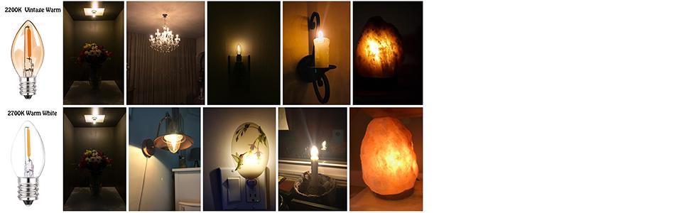 night light bulbs 4w c7 led bulbs