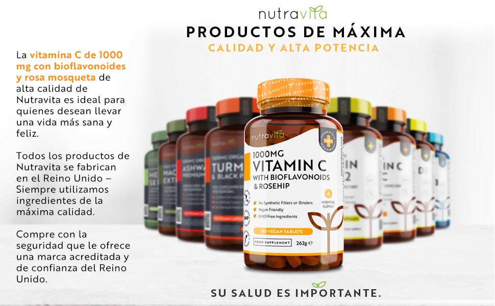 Vitamina C con Bioflavonoides y Rosa Mosqueta