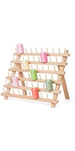 60 spool wood thread holder