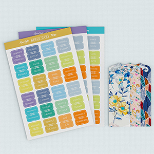 Colorful Bible Stickers and Bookmarks