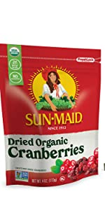 Dried Organic Cranberries
