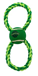 TMNT Rope Tennis Ball Toy for Dogs