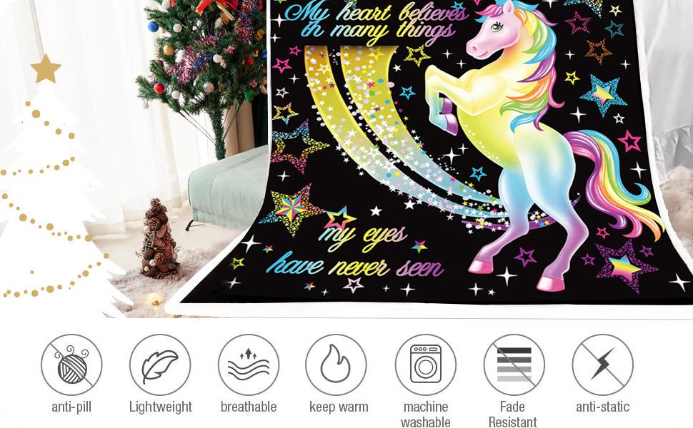 Unicorn Throw Blankets