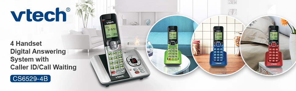 CS6529-4B 4 handset system with caller ID call waiting colorful handsets