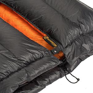 snap neck closer sleeping bag quilt down