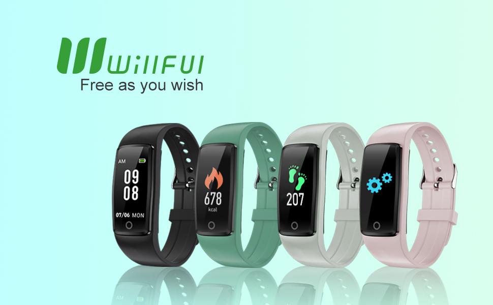 Willful Orologio Fitness Contapassi da Polso senza APP e Bluetooth e Connessione al Telefono